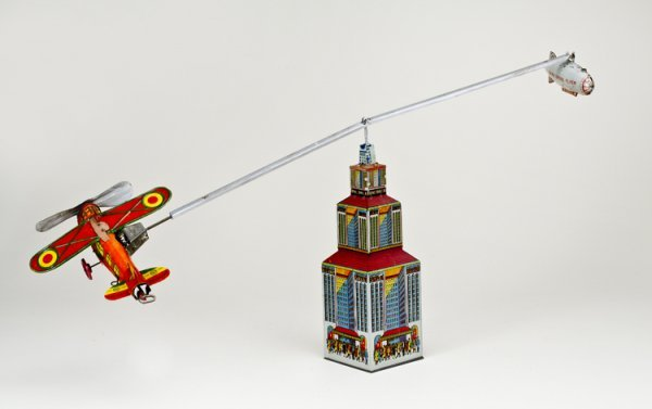 9: Marx Zeppelin and Plane Tin Toy