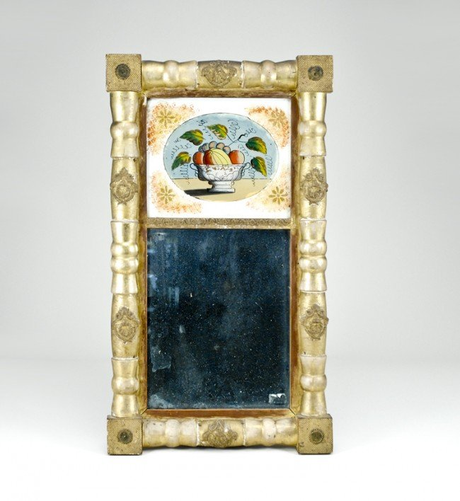 1: Early Framed Mirror with Reverse Painting