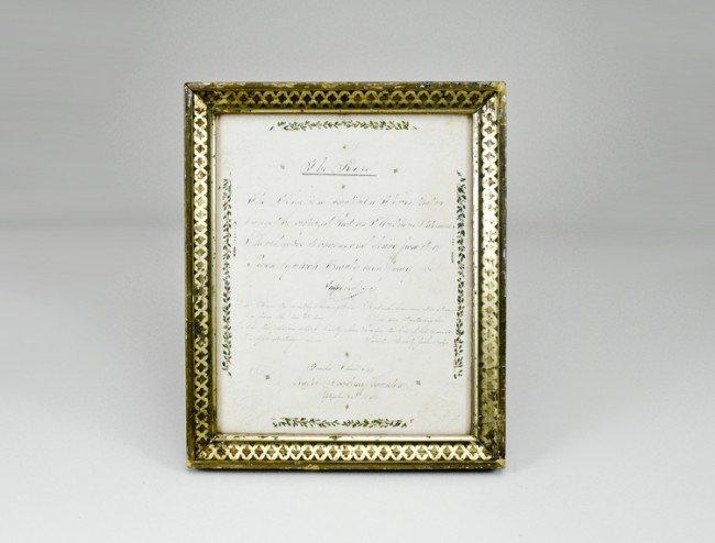 9: Framed 1810 Valentine