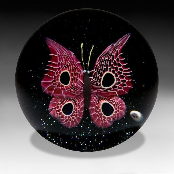 12: Baccarat 1978 pink winged butterfly