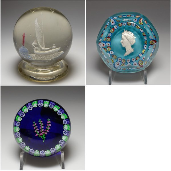 Assortment of Glass Paperweights