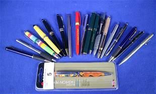 Lot of 17 +/- Pens