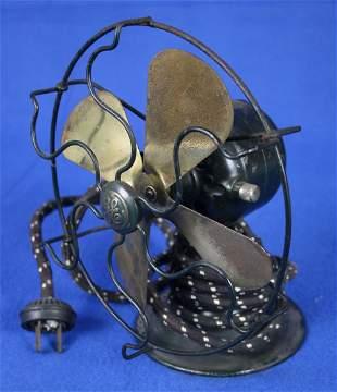 General Electric Fan w/brass legs