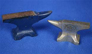 2 Miniature Toy Anvils