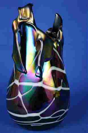Signed Contemporary Art Glass Vase