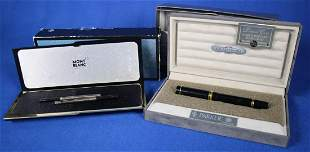 Parker Duofold Fountain Pen & Mont BlancCase