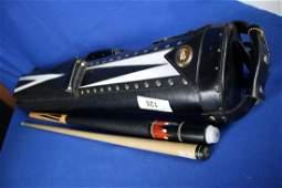 Genuine Leather Billiard Case with Cue Stick