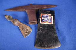 2 Forged Axe Heads & 1 Pick Head