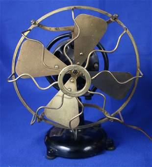 Brass Table Top Electric 4 Blade Fan