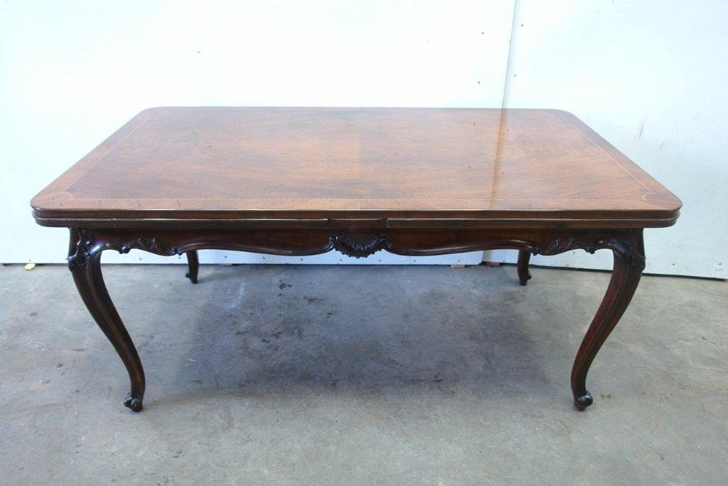 3: Inlaid French Walnut Dining Table