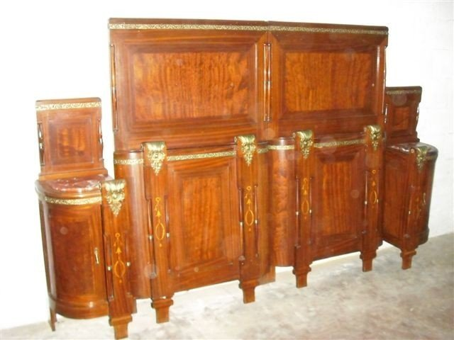 10: Bronzed Italian Beds and Night Stands