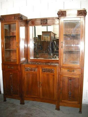 21: Art Nouveau Carved Server