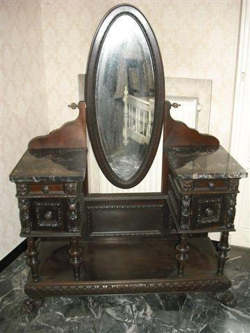 23: Marble Top Antique Italian Vanity