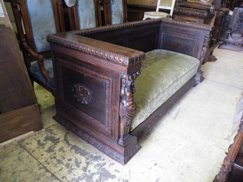 50: Figural Carved German Sofa