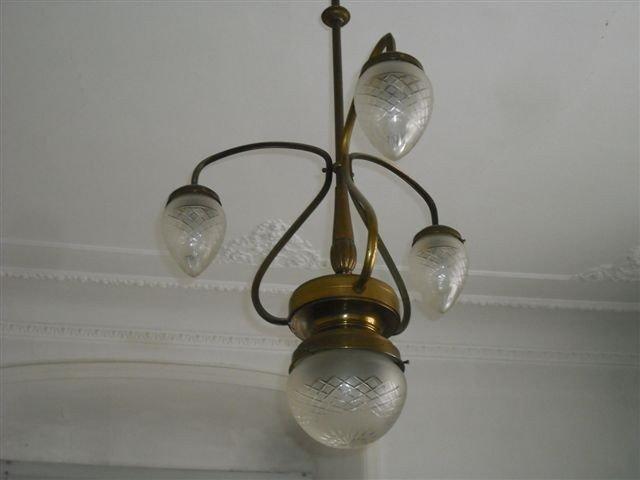 174: Italian Art Nouveau Chandelier