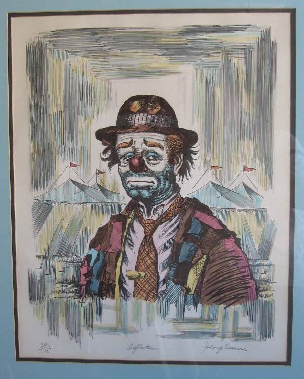 8: Original Lithograph by George Crionas (1925-2004)