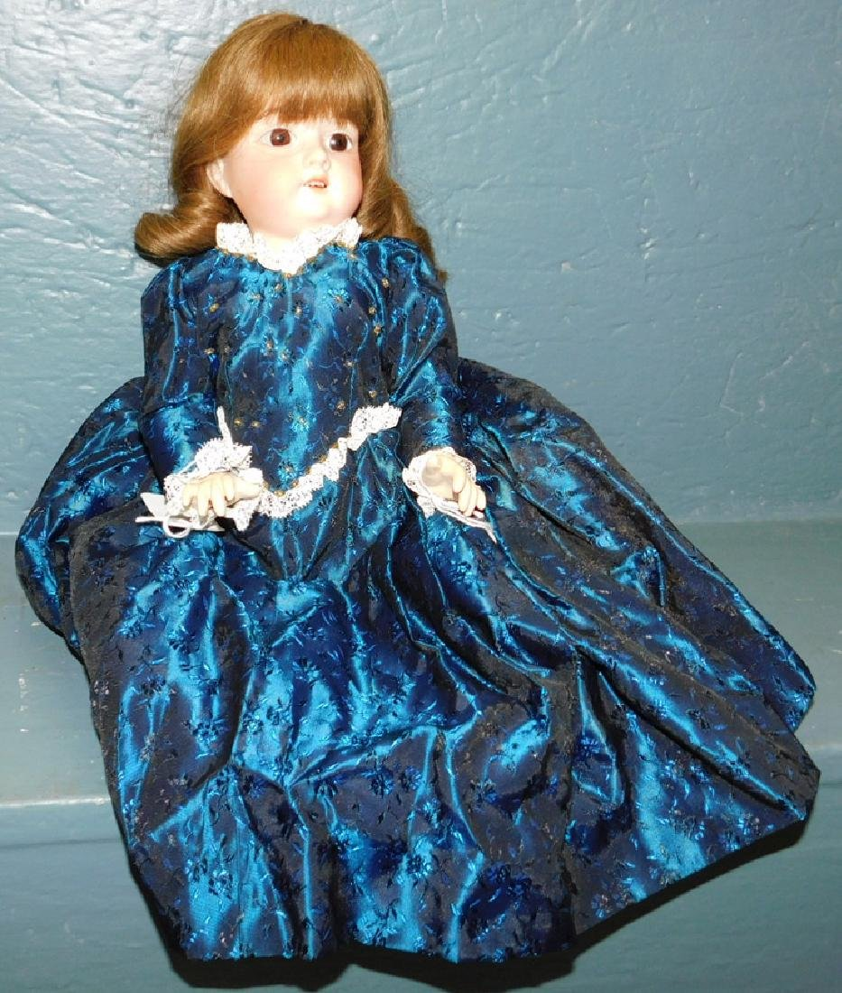 German bisque doll marked A.M. 390.