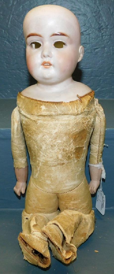 Majestic antique doll w/kid body, no eyes or wig.