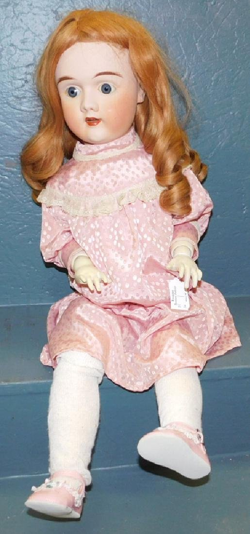 Lrg antique bisque head doll. Marked 109 & 1542