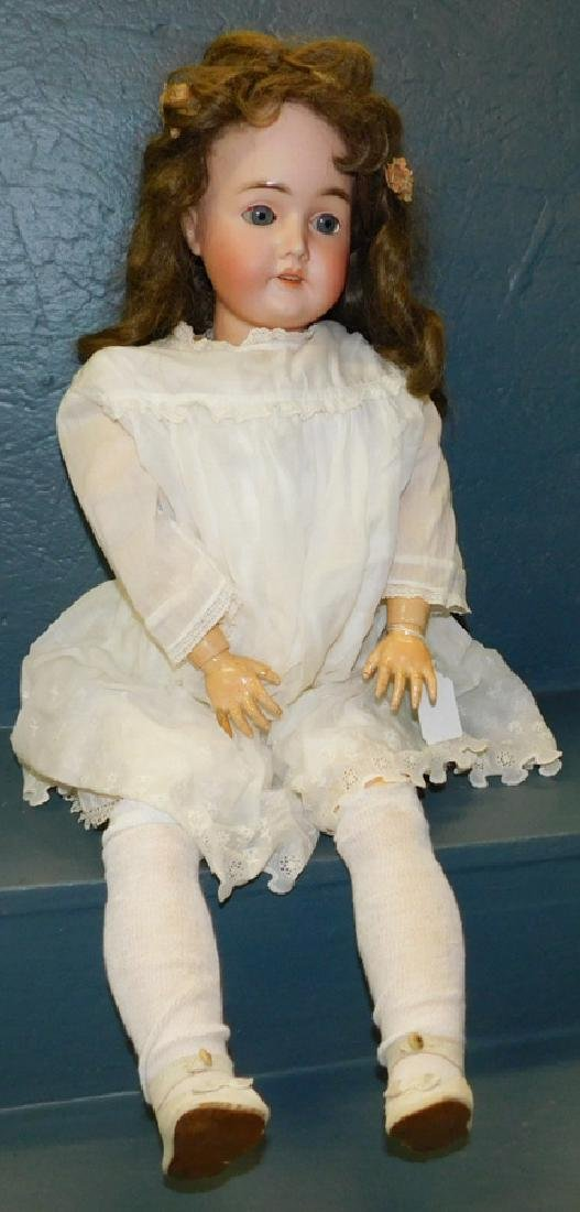 Antique Queen Louise bisque head doll.