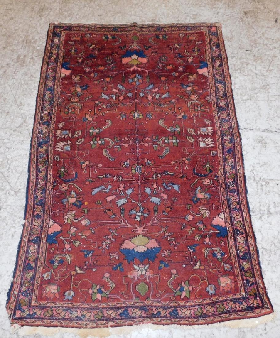 "3'2"" x 5' handmade antique Sarouk rug"