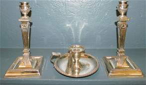 Pr Corin column candlesticks  chamberstick