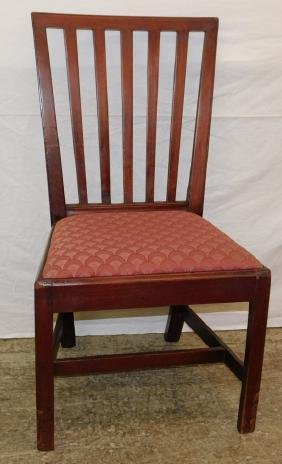 18th C  mahogany Chipp. banister back chair.