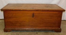 19th C Pine dovetail blanket chest w/ handles