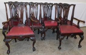 10 mahogany Robert Morris Style Chip. chairs