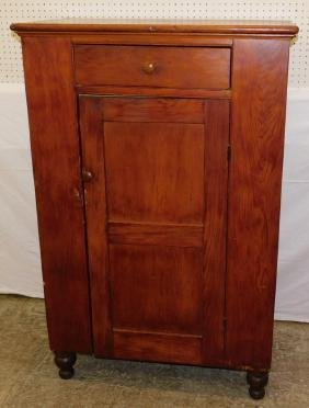19th C Pine jelly cupboard.