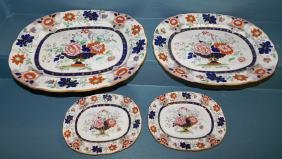 4 Masons Real Ironstone china platters.
