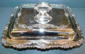 Sterling lined silver plate covered vegetable.
