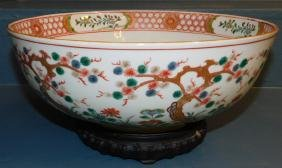 19th C Chinese Export bowl with stand.