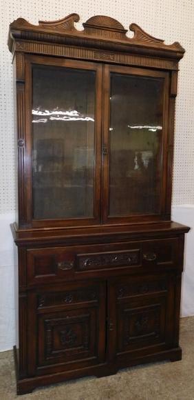 Mah English Vict butlers desk bookcase secretary.
