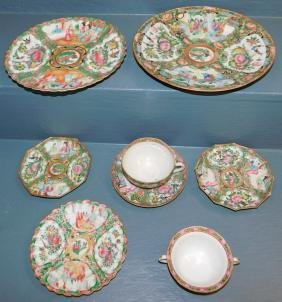 8 pcs Rose Medallion china.