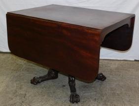 Carved base 3 board top Am Pembroke Emp table.