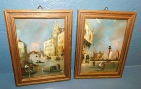 Pair of Dyer signed watercolor Venetian scenes