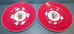 Pair of hand painted Imperial Russian plates.