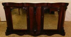 English Rosewood Victorian Marble top credenza.