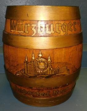 iron banded German beer barrel.