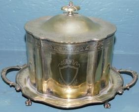 Silverplated biscuit jar