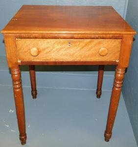 Mahogany one drawer work table.