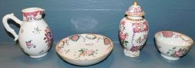 4 pcs 19th C Chinese export porcelain.