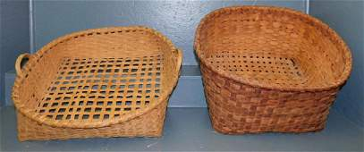 2 split oak cotton baskets To 24 long