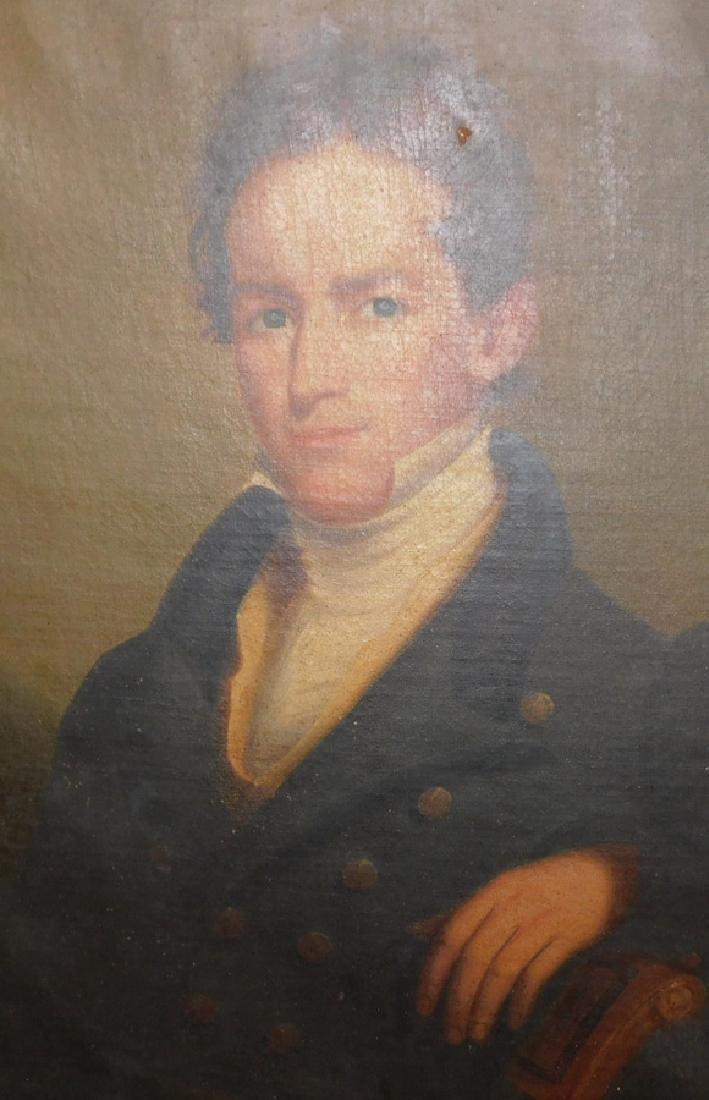 Pair of portrait oil paintings in original frames - 2