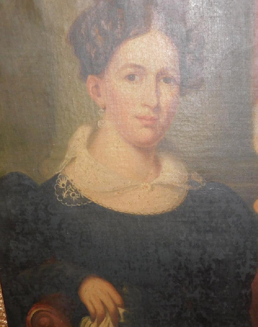 Pair of portrait oil paintings in original frames - 3