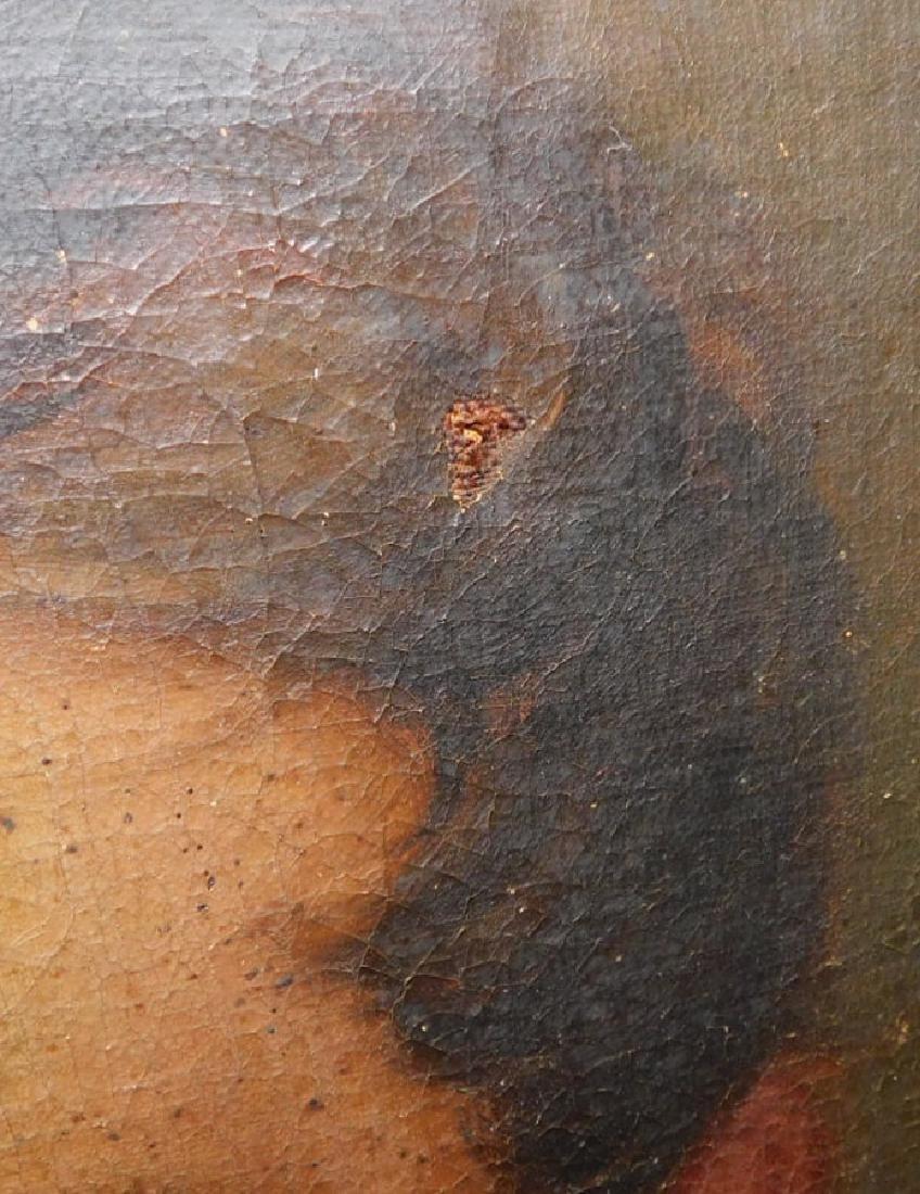 Pair of portrait oil paintings in original frames - 4