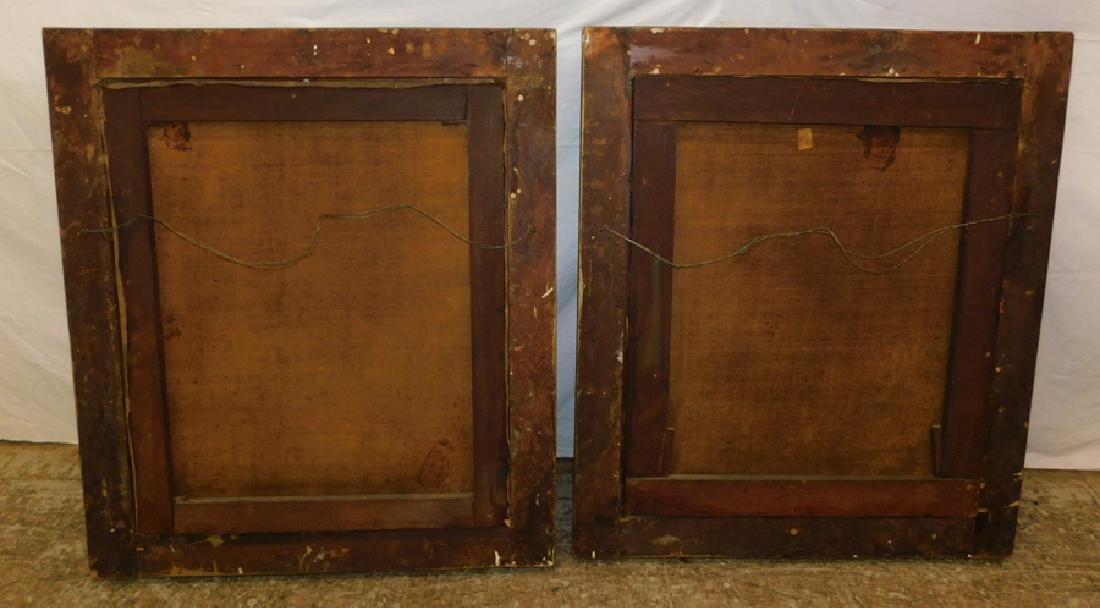 Pair of portrait oil paintings in original frames - 5