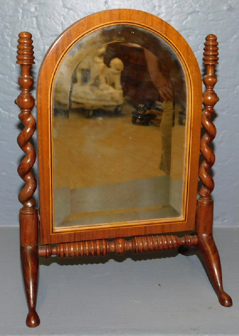 Miniature barley twist bevel edge dresser mirror.