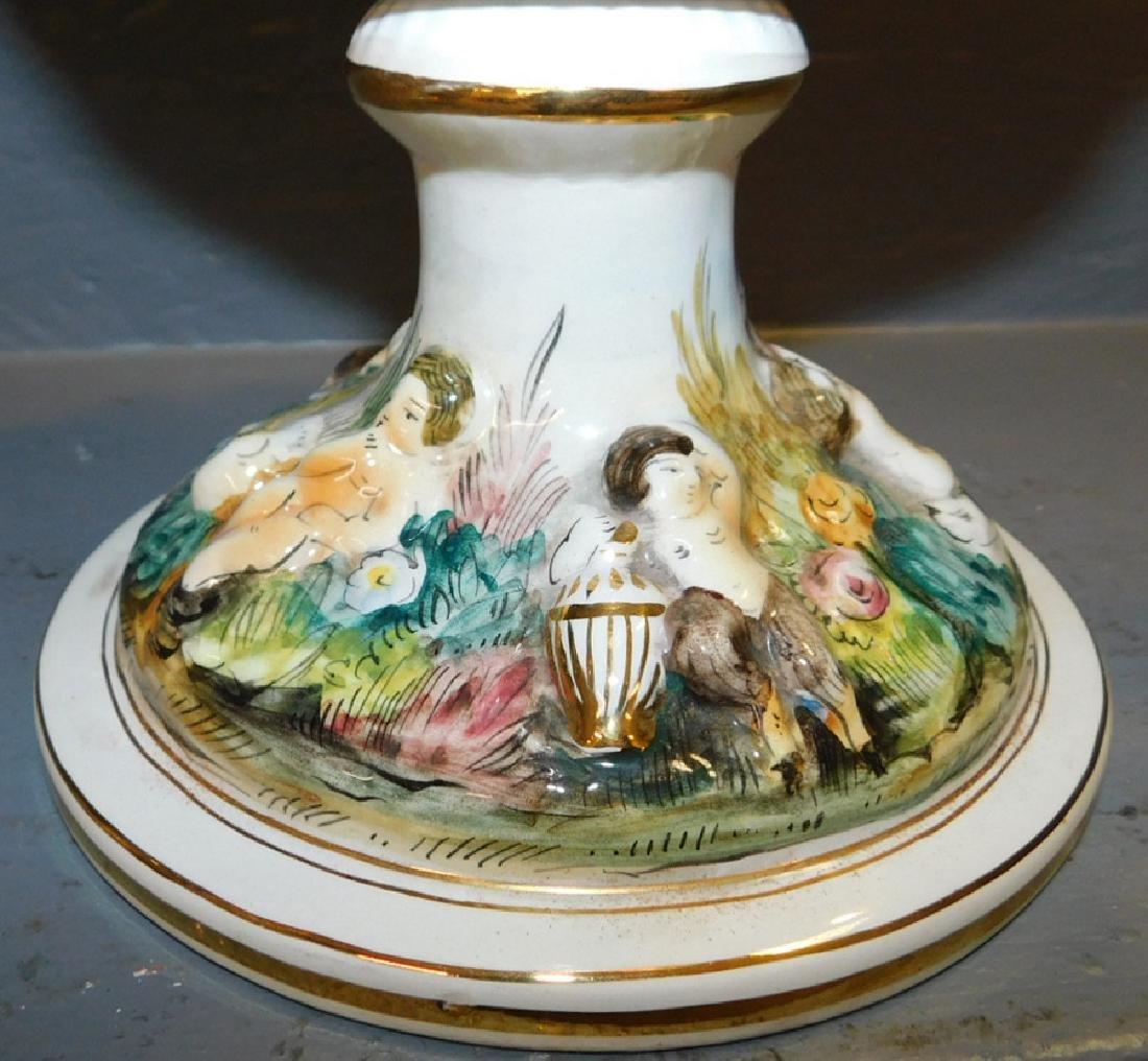 "Pair of Italian Capodimonte vases. 17"" tall. - 4"
